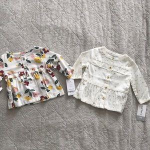 Carters baby girl blouses 3 mo bundle